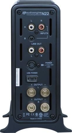 Audioengine N22 Premium Desktop Audio Amplifier - Rear