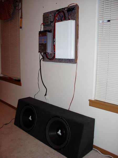 how do you hook up a car amp in your house